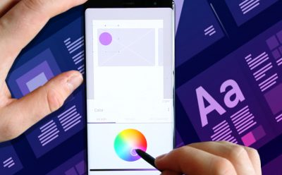 wireframing on mobile device with adobe comp
