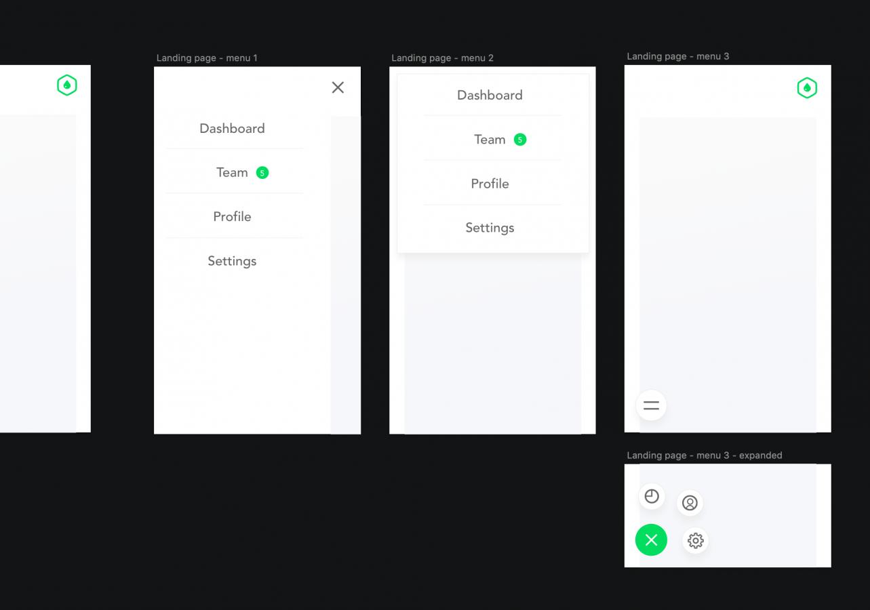 Axure mobile menu