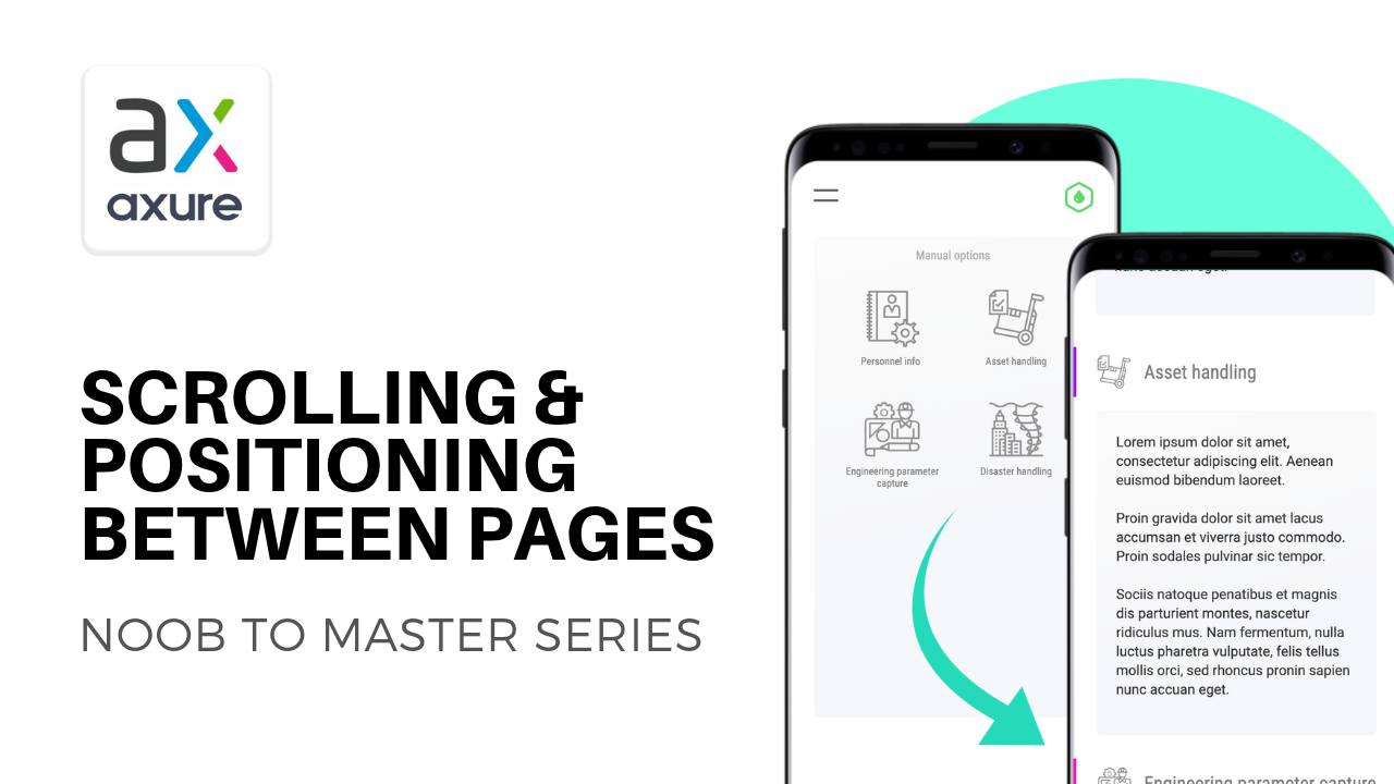 Axure scrolling and positioning across pages