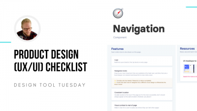 Product design checklist - design tool tuesday
