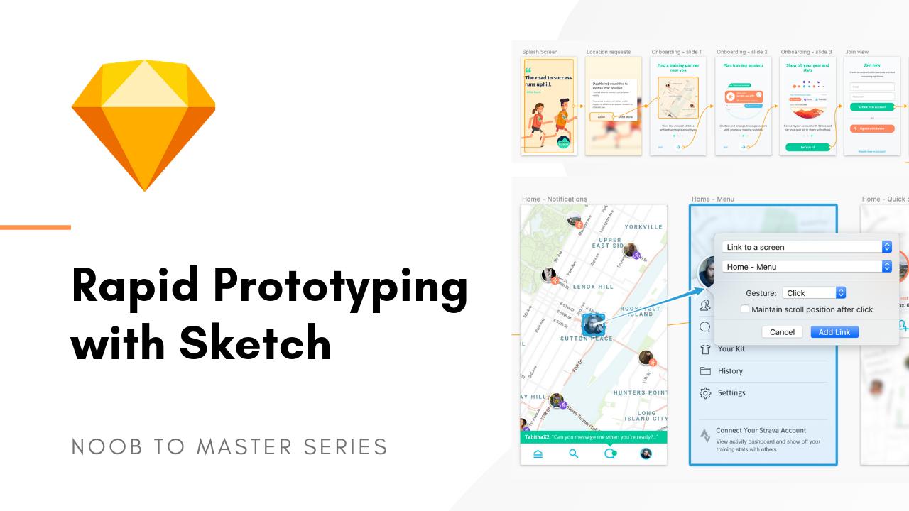 Sketch rapid prototyping UX