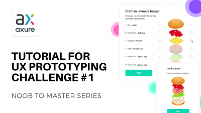 Axure RP UX prototyping challenge tutorial