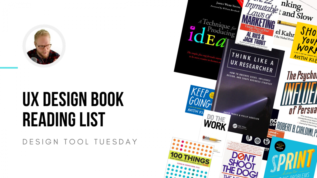 Book montage for user experience UX and designers
