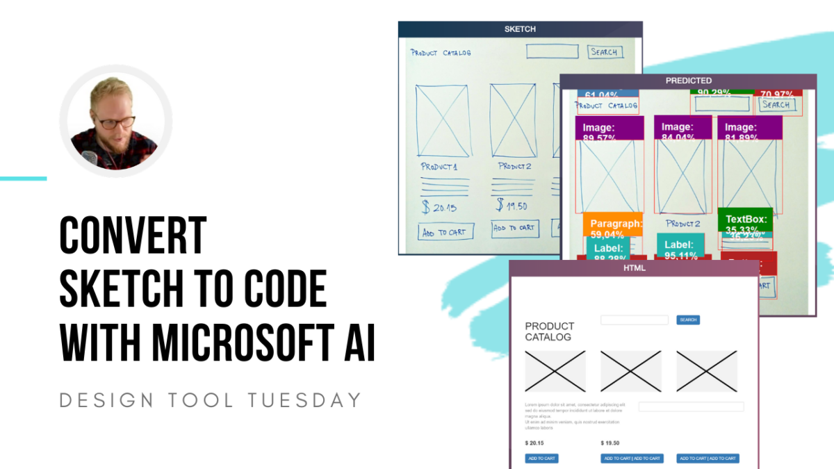 Convert Sketch to Code with Microsoft AI - Design Tool Tuesday