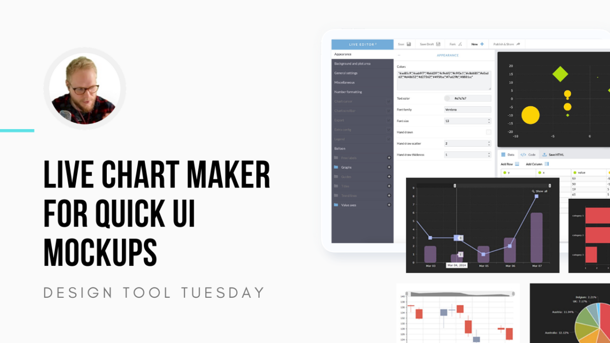 Chart Maker for Quick UI Designs and Wireframes - Design Tool Tuesday