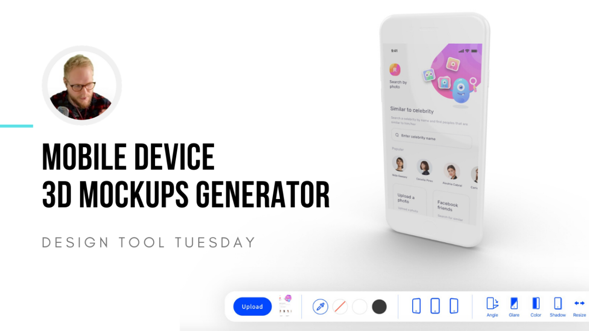 Mobile Device 3D Mockup Generator - Design Tool Tuesday