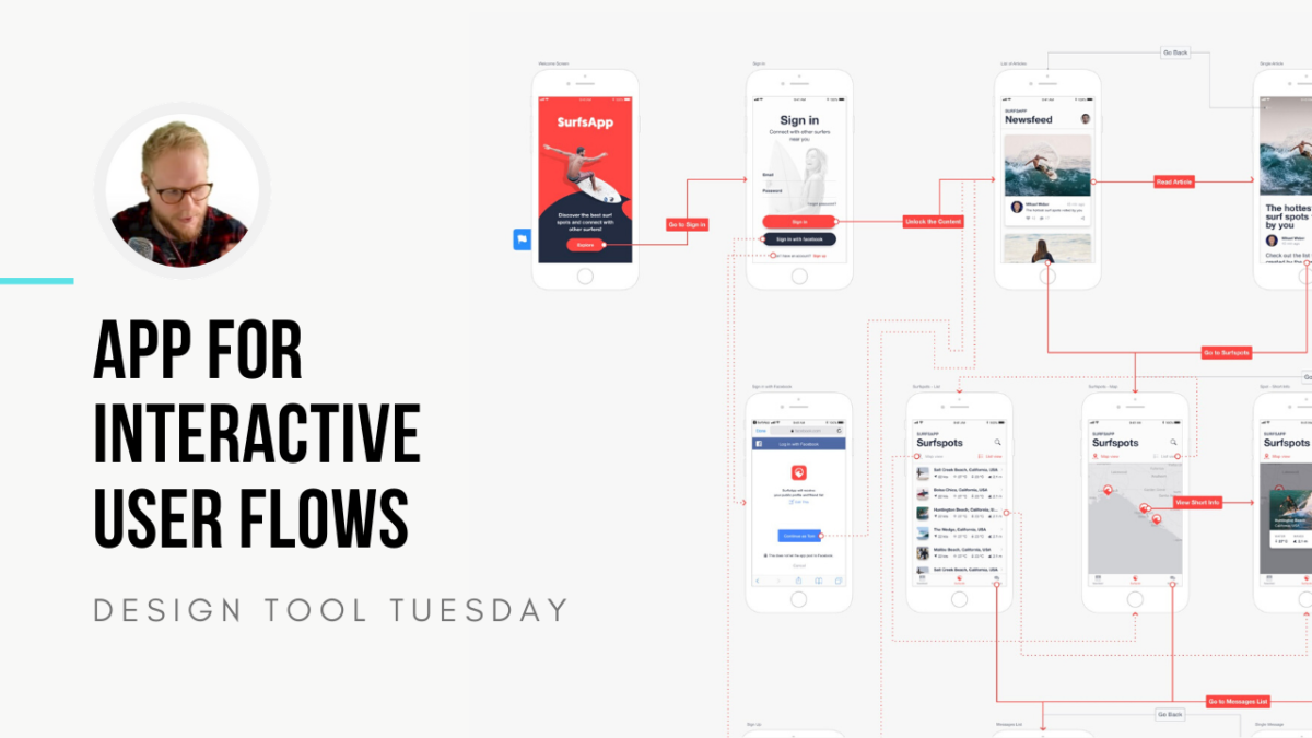 App for Interactive User Flows and UX Journeys - Design Tool Tuesday