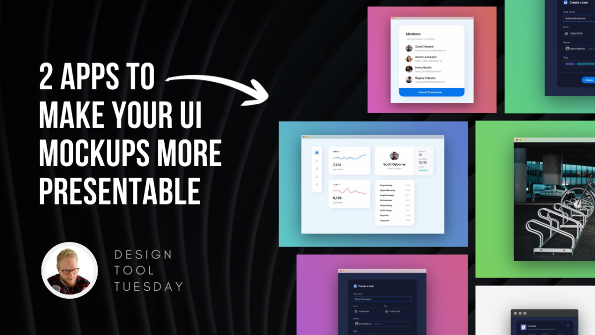 2 Apps to Make Your UI Mockups More Presentable - Design Tool Tuesday