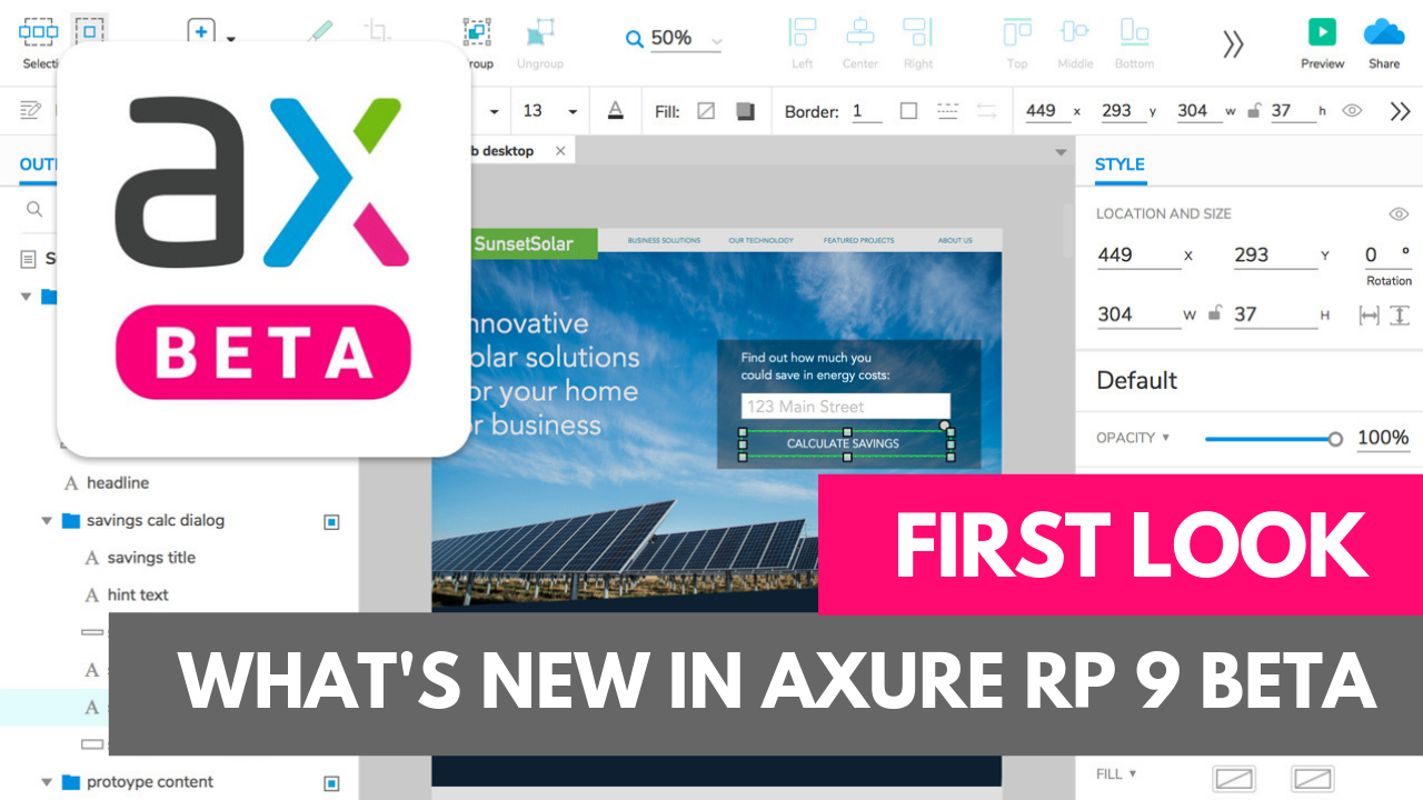 Axure 9 beta first look
