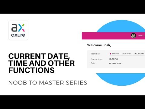 Axure - current date and time