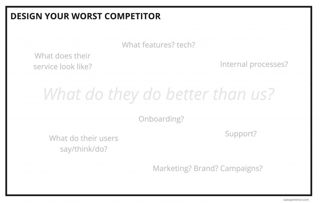 UX - Design your worst competitor template
