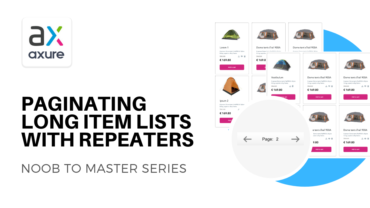 Axure repeater pagination
