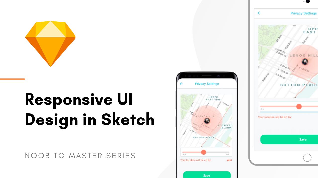 Sketch responsive UI design