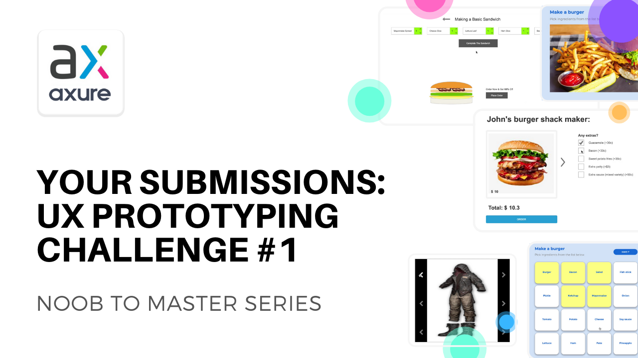 Axure UX prototyping challenge submission by viewers