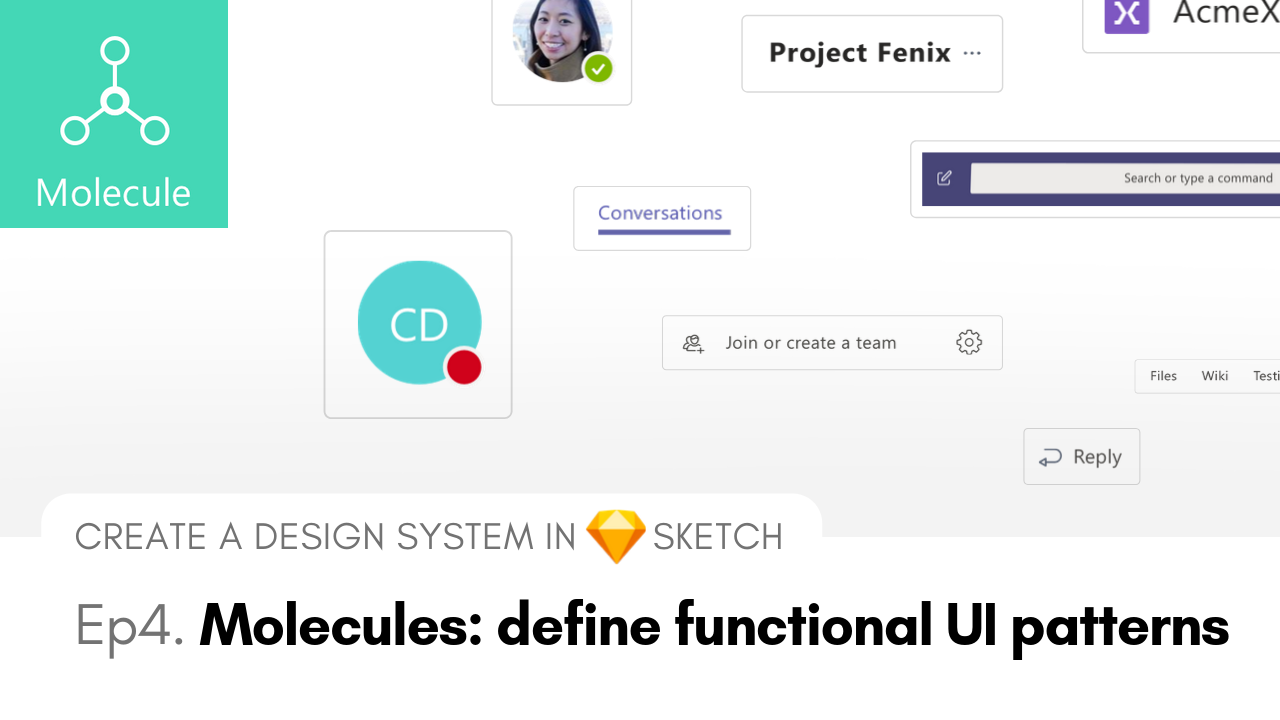 Molecules - Create an Atomic Design systems with Sketch