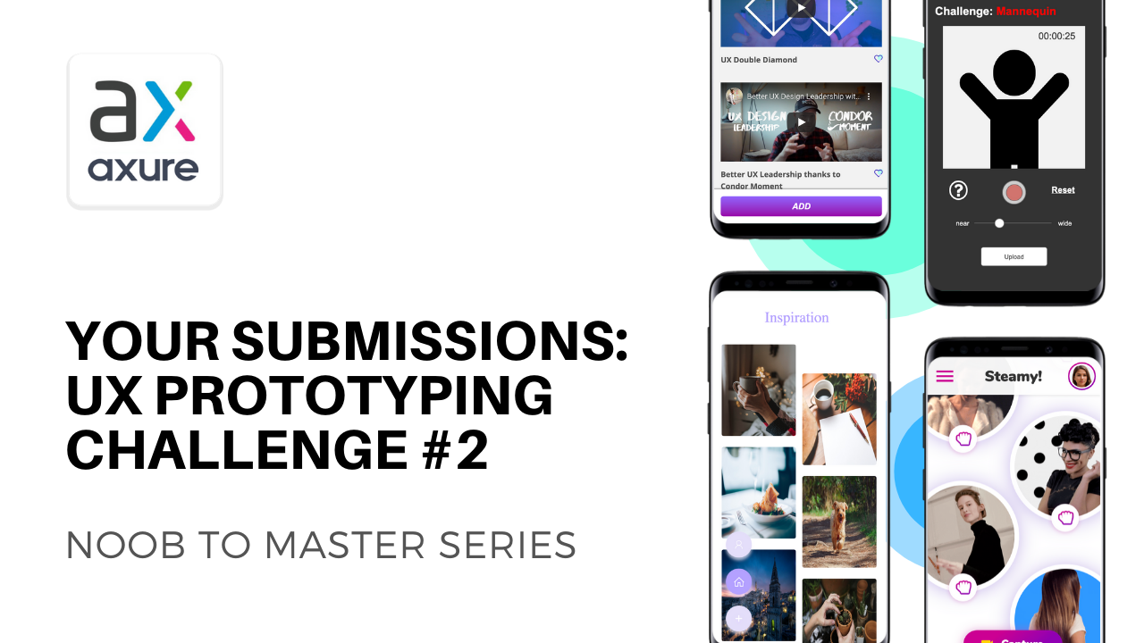 Your Submissions for UX Prototyping with Axure Challenge #2