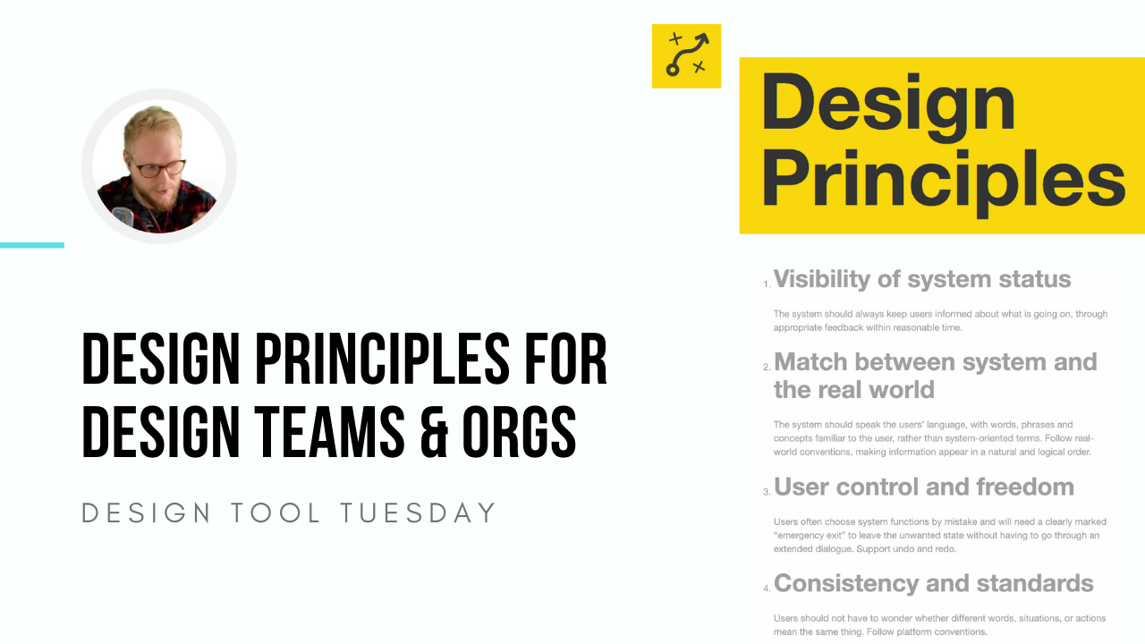 Design Principles for Design Teams and Orgs - Design Tool Tuesday