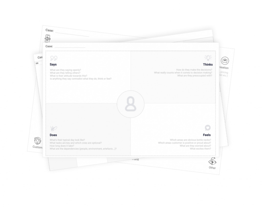 Free UX workshop templates for design thinking and experience design discoveries