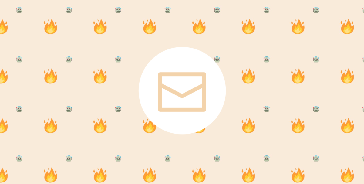 Let's not burn out in May, OK? - A banner for design newsletter for UX designers