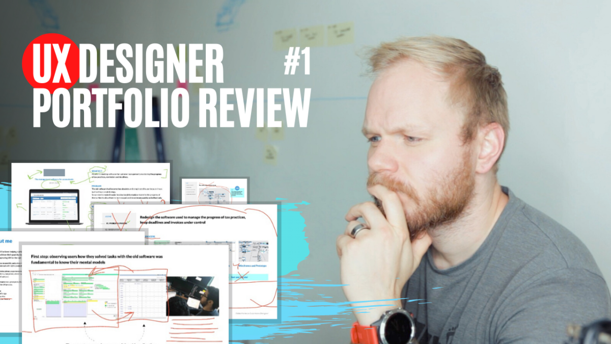 UX Portfolio Review for a UX Designer #1