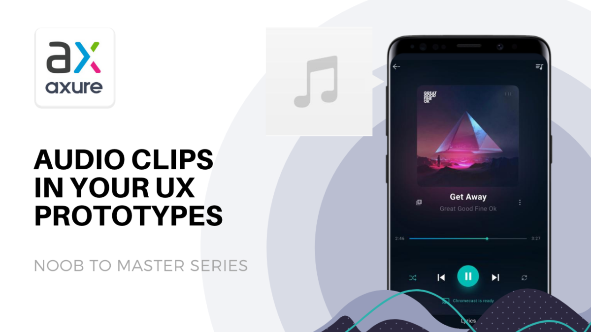UI prototype of mobile music player in Axure UX