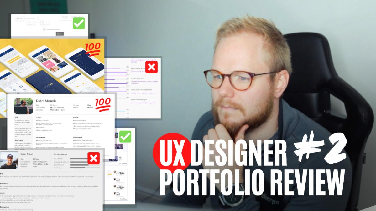 UX Portfolio Review #2: Product Designer's Portfolio