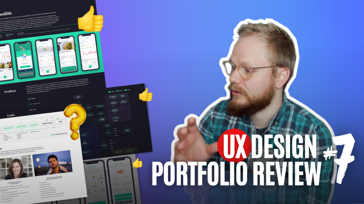 Ux portfolio review on personas, Ui and product design work