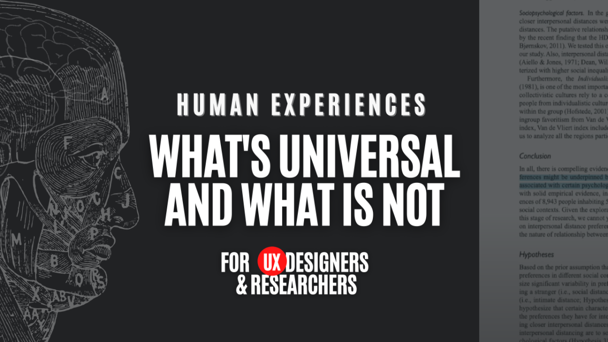 Which Human Experiences are Universal? - Universal Human Factors