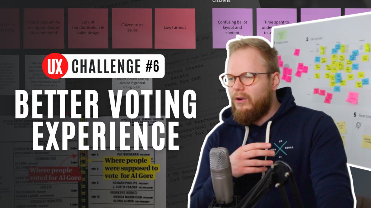 UX challenge to address: USA voting ballot UX and UI is shocking