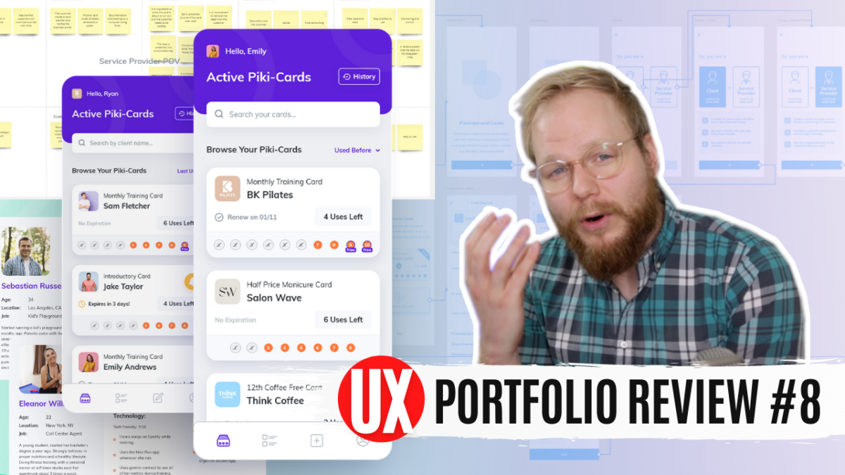 UX portfolio review and UX case study breakdown from product designer Nadav