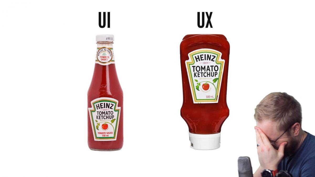 UX vs UI ketchup bottles