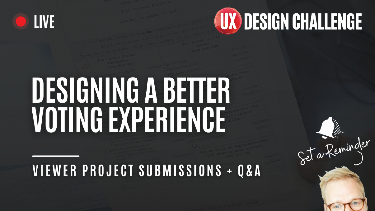 UX challenge for designing a better voting experience livestream