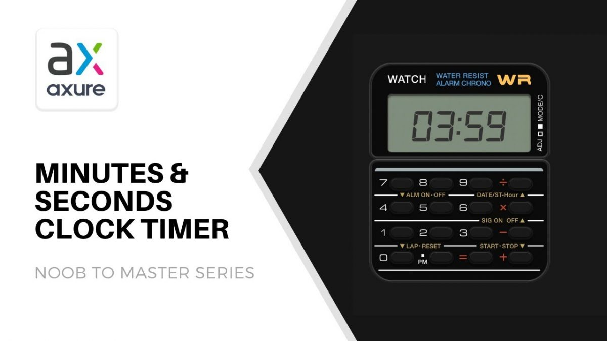 Clock timer counter tutorial in Axure RP