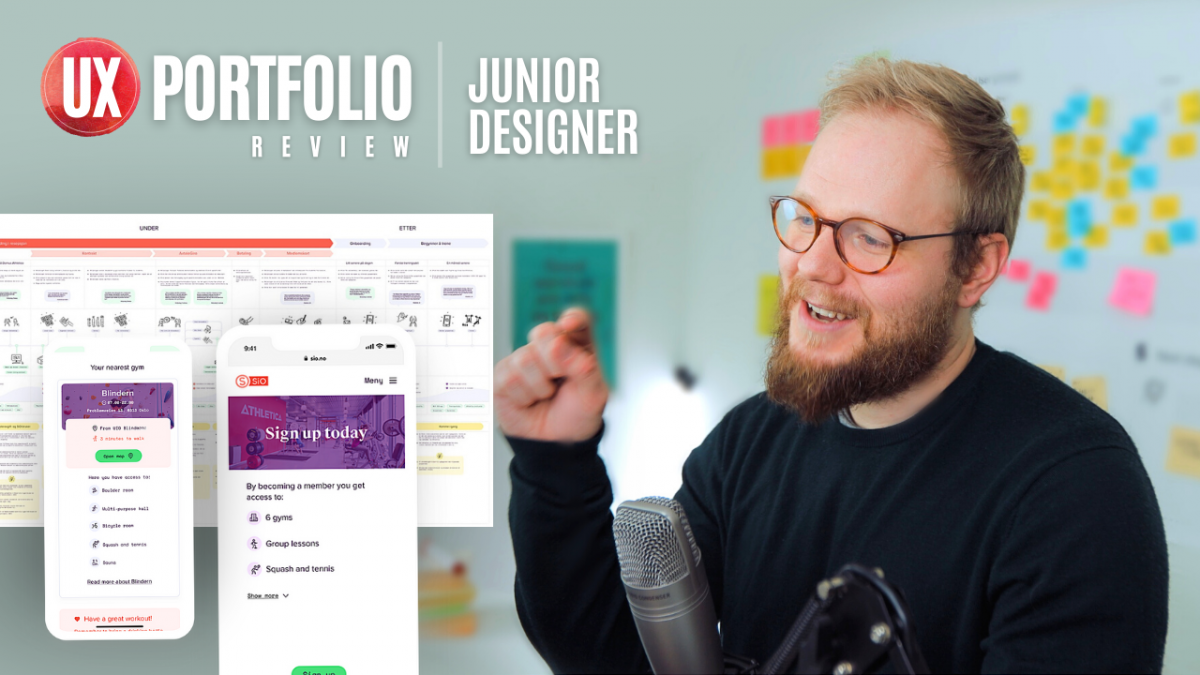 junior ux portfolio review from norway