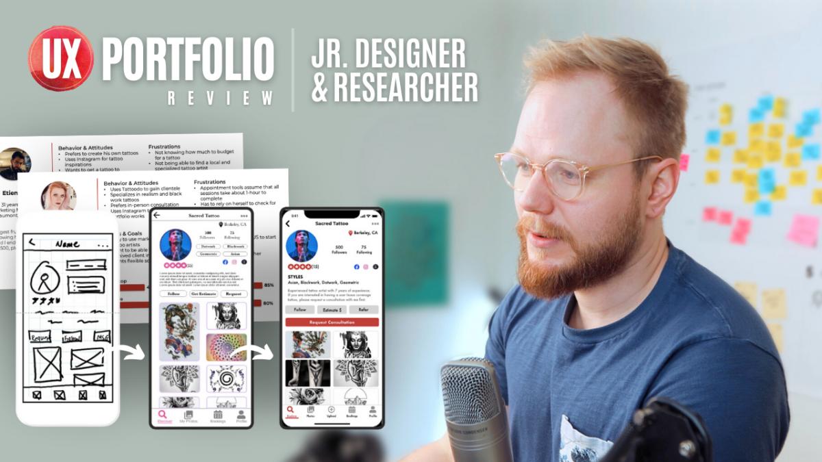 Junior UX Portfolio Review: UX Research and Design Case Studies