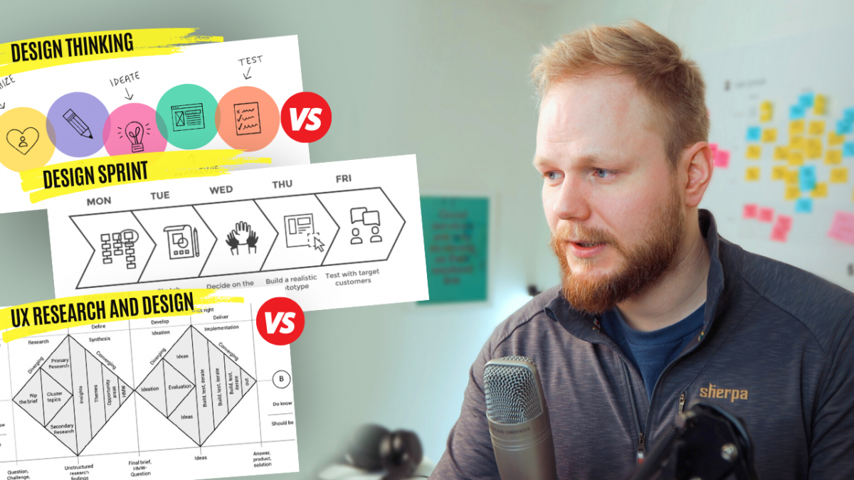UX vs Design Thinking vs Design Sprint