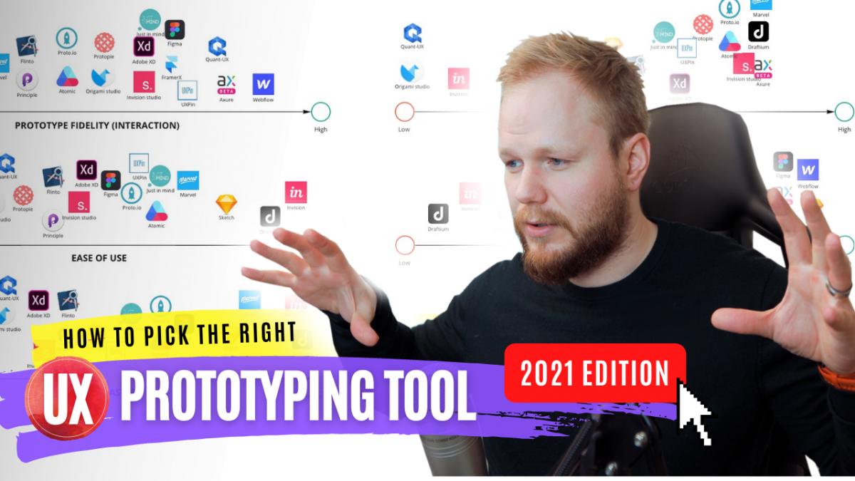 UX prototyping tools evaluation matrix