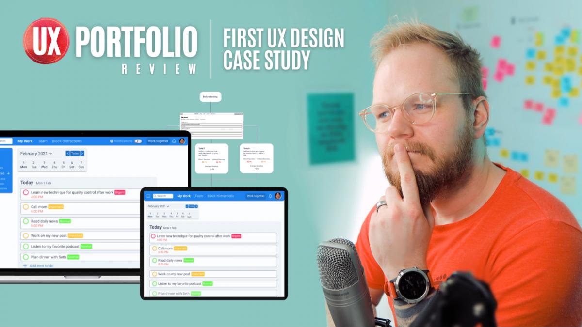 Junior UX Portfolio Review: First UX Case Study
