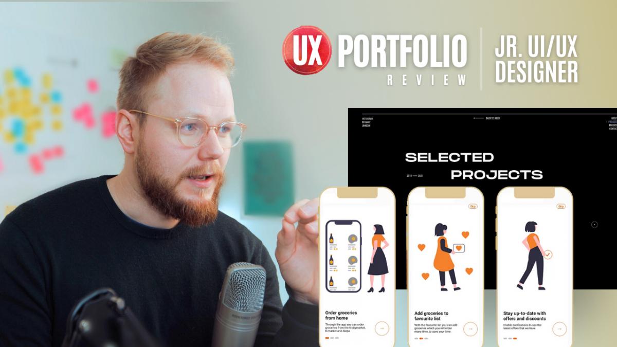 Junior UX Portfolio Review: UX/UI Work for Startups & Digital Agencies