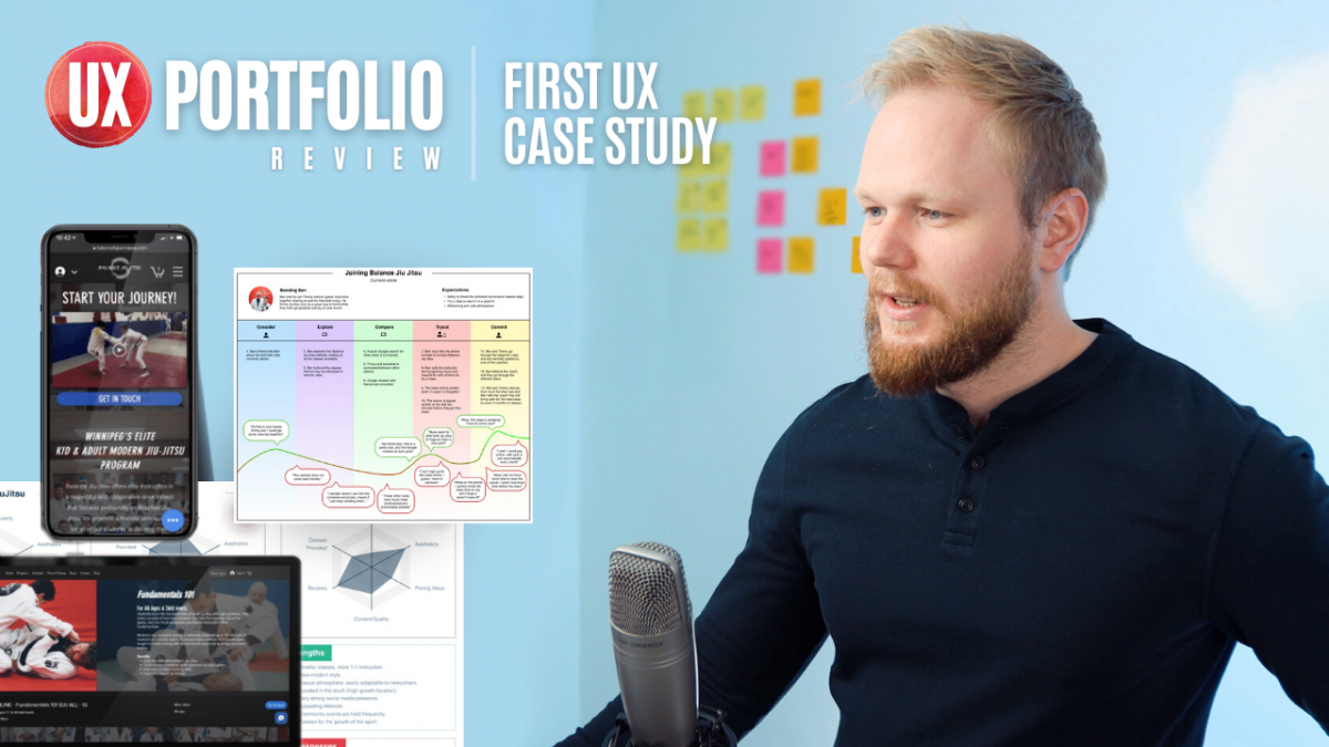 Junior UX Portfolio Review: First UX Case Study by vaexperience