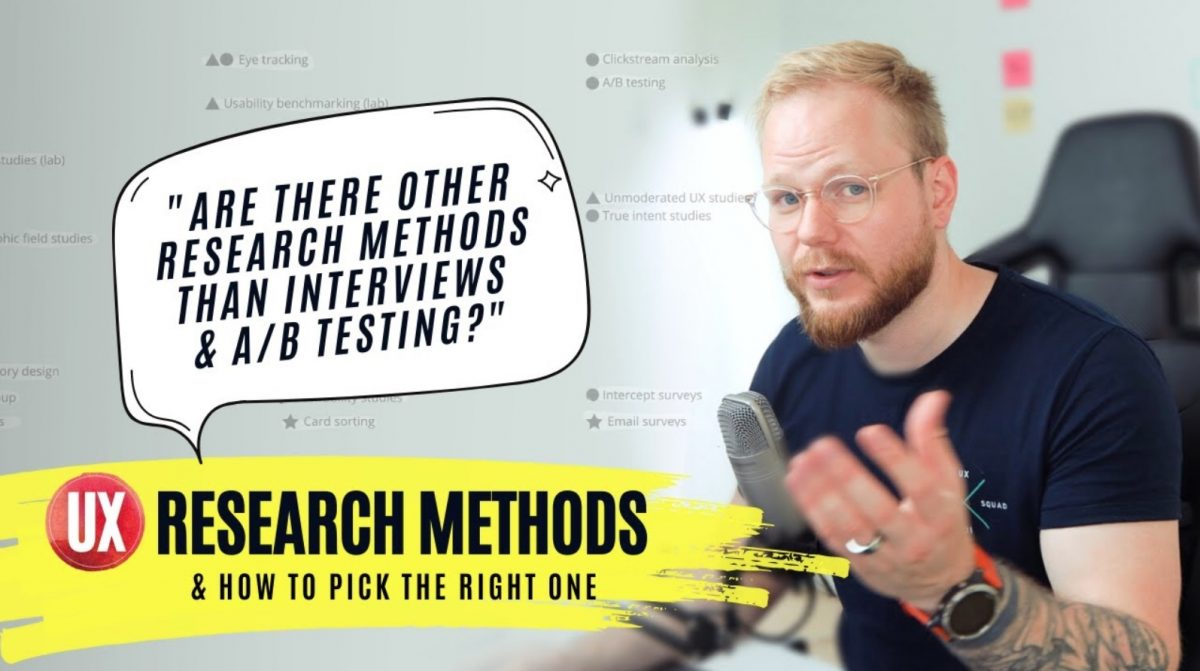 UX Research Methods: Wait, There's More to User Research Than Interviews and A/B Testing?