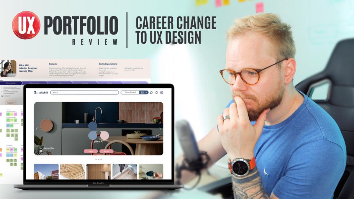 Junior UX Portfolio Review: Career Change to UX Design