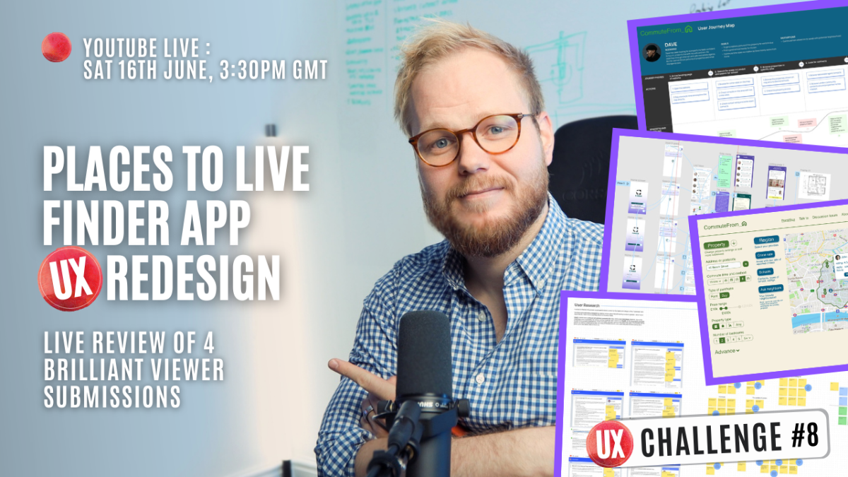 UX Project Challenge: Product UX Redesign - Submissions Review Live UX Stream